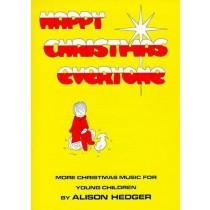 Happy Christmas Everyone Alison Hedger KS2 Carols Teachers Book Piano S162