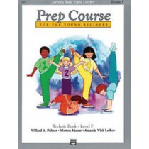 Alfred's Basic Piano Library Prep Course Technic Book Level F Young Beginner 142