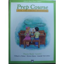 Alfred's Basic Piano Library Prep Course Theory Book C Young Beginner B22