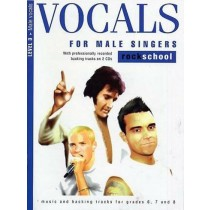 Vocals for Male Singers Rockschool Level 3 Voice Music Book & CDs Grades 6-8 S19