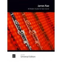 James Rae 40 Modern Studies for Solo Clarinet UE 19735 Sheet Music Book S93