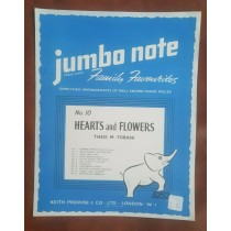 Hearts And Flowers Piano Jumbo Note Simple Sheet Music No 10 Keith Prowse S89