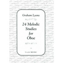 24 Melodic Studies for Oboe Music Book U56 First Four Years Graham Lyons S30