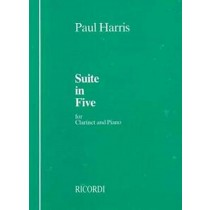 Suite in 5 for Clarinet and Piano Sheet Music Book Paul Harris S69