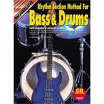 Progressive Rhythm Section Method For Bass and Drums Book CD Sheet Music S94