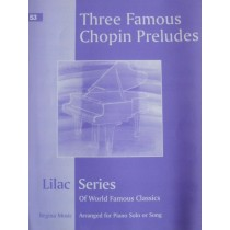 Lilac Series No 53 Three Famous Chopin Preludes Op 28 Piano Sheet Music Book S27