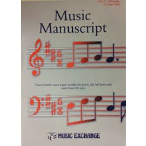Music Manuscript No 5 ~ 100 Page 12 Stave Notation Theory A4 Paper Pad Book S126