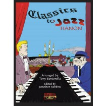 Classics to Jazz Hanon Piano Sheet Music Book Arr Robbins Exercises S88