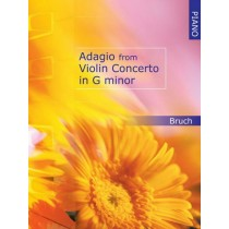 Adagio from Violin Concerto in G Minor Bruch for PIANO ONLY Sheet Music Book H2