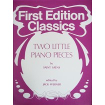First Edition Classics Two Little Piano Pieces Saint-Saens / Werner Book S98
