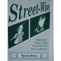 Street-Wise Duets For Flute & Clarinet Book Terry Kenny S96