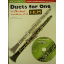 Duets For One for Clarinet Film Book & CD Grade 1-2+ S89