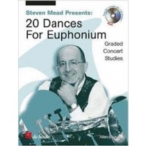 Steven Mead 20 Dances For Euphonium Baritone Graded Studies Book & CD S162