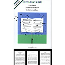 Paul Harris Summer Sketches for Clarinet & Piano Sheet Music Book S98