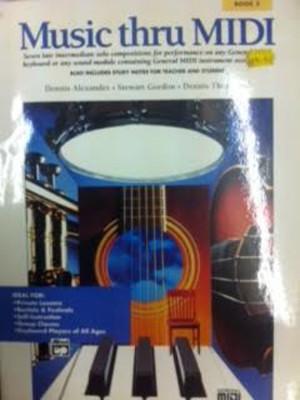 Music Thru Midi Book 3 Intermediate Solo Pieces Tutor Book Sheet Music S98