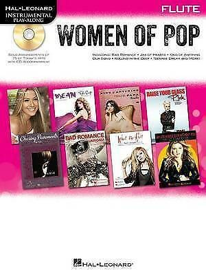 Hal Leonard Women Of Pop Flute Music Book CD Chasing Pavements What The Hell S52