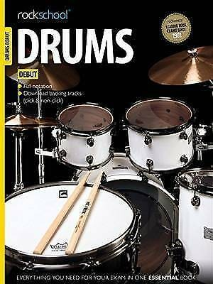 Rockschool Drums Debut Exam 2012-2018 Music Book D/L Backing Tracks S28