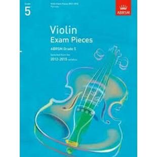 Violin Exam Pieces 2012-2015 Grade 5 Sheet Music Book ABRSM Violin Part Only S01