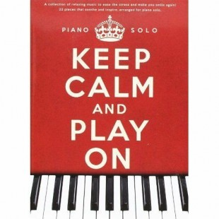 Keep Calm And Play On Piano Solo Music Book Michael Nyman Glass Yared Talbot S30