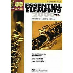 Essential Elements 2000 Clarinet Play-Along Book 1 CD DVD Comp Band Method S127