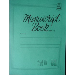 Music Manuscript Book GMS 12  ~ 12 Page A4 Book Composing Theory Notes S137