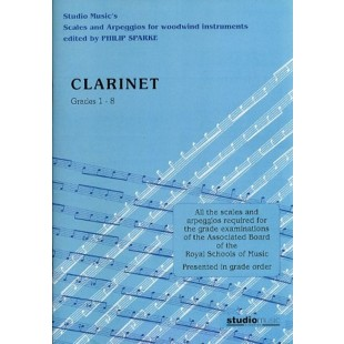 Scales And Arpeggios Clarinet Grade 1-8 ABRSM Exam Book Studio Music S158