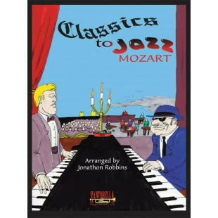 Classics to Jazz Mozart Piano Sheet Music Book Arr Robbins Minuet in G S88